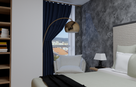Vizualizácia bytu 2 izbový byt, spálňa v Diamon Residence | Diamonresidence.sk