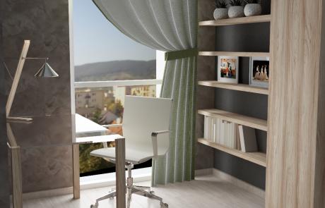 Vizualizácia bytu 3 izbový byt, izba v Diamon Residence | Diamonresidence.sk