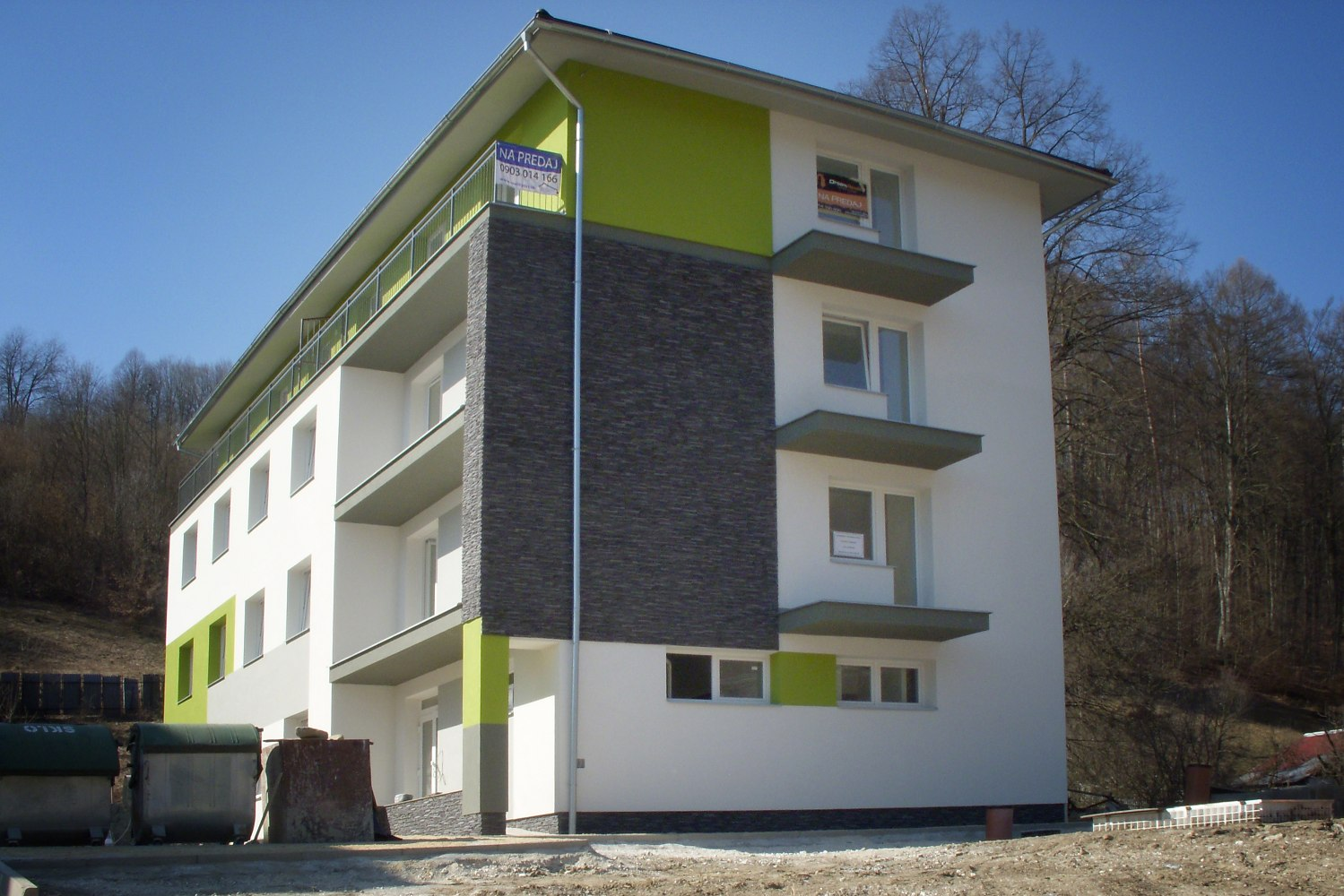 Referencie, stavba bytového domu Rudinská