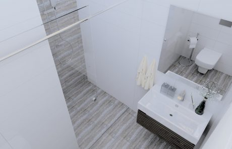 Vizualizácia 2-izbového bytu B48 - kúpeľňa | Urban-park.sk - ideálne mestské bývanie v Trenčíne