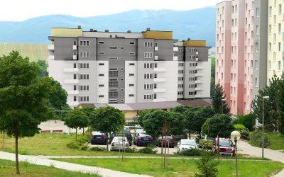 Vizualizácia UrbanPark Východná - severný pohľad zo sídliska | Urban-park.sk - ideálne mestské bývanie v Trenčíne