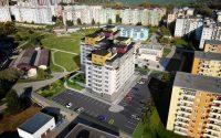 Vizualizácia UrbanPark Východná - západný pohľad | Urban-park.sk - ideálne mestské bývanie v Trenčíne