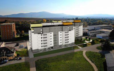 Vizualizácia UrbanPark Východná - severný pohľad | Urban-park.sk - ideálne mestské bývanie v Trenčíne