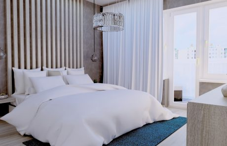 Vizualizácia 2-izbového bytu B48 - spálňa | Urban-park.sk - ideálne mestské bývanie v Trenčíne